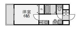 プレミアムステージ新大阪駅前II 9階1Kの間取り