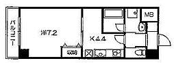 パレ・ド・エトワール    (仮)田中南西浦町マンション)[207号室号室]の間取り