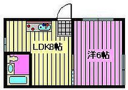 片山アパート[101号室]の間取り