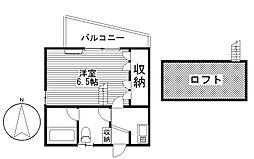 ペアコート[2階]の間取り