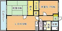 レジデンス佐藤[2階]の間取り