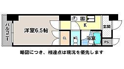 京都府京都市上京区東町の賃貸マンションの間取り