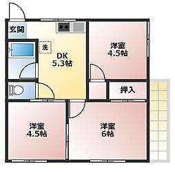 アリュール横須賀森崎[1F号室]の間取り