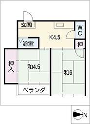 第2岬ビル[1階]の間取り
