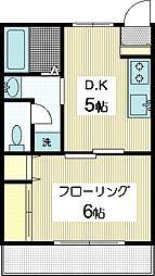 手塚コーポ1[1階]の間取り