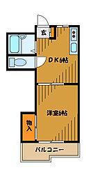 東京都国分寺市本多の賃貸マンションの間取り