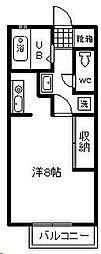 リバティハウス[110号室]の間取り