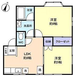 レジデンス勝田台[2階]の間取り