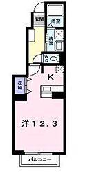 フィ−ルドリヴ[1階]の間取り