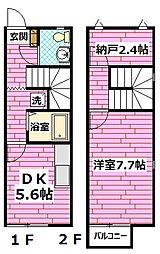 エクレール雲願寺 C棟 1階1SDKの間取り