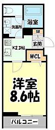 仙台市営南北線 北四番丁駅 徒歩13分の賃貸アパート 2階1Kの間取り