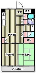 オークハイツ多摩[2階]の間取り