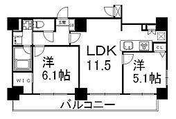ALTA京都堀川WINDOOR[8階]の間取り