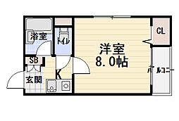 サンフォレスト守口[1階]の間取り