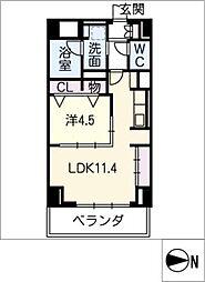 プレミアムコート新栄[3階]の間取り