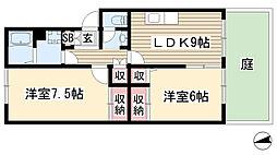 愛知県長久手市根の神の賃貸アパートの間取り