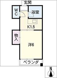 コ−ポ岡部[4階]の間取り