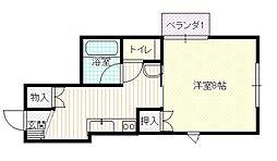 ブルーメンハイム[1階]の間取り