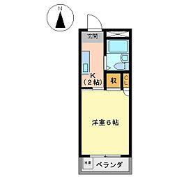 コーポM・A・S[2001号室]の間取り