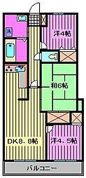 セレブラール蕨[6階]の間取り