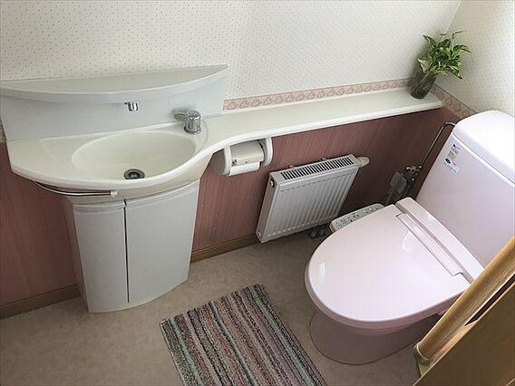 トイレは手洗い...