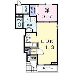 プロムナードさくら1番館[1階]の間取り