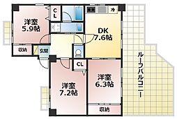 Kobe十一屋[5階]の間取り