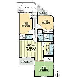 ライオンズマンション北綾瀬第8[1階]の間取り
