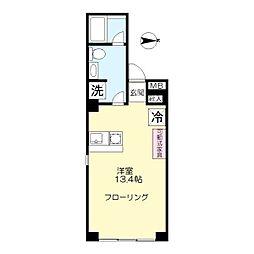 マンション来福[201号室]の間取り