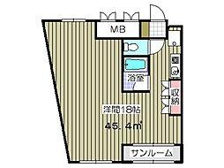 ファインハイム[2階]の間取り