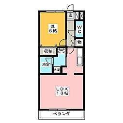 アークパレス[2階]の間取り