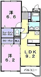 フロイデヴォーヌング[1階]の間取り