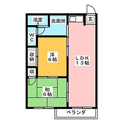 メゾン平子[2階]の間取り