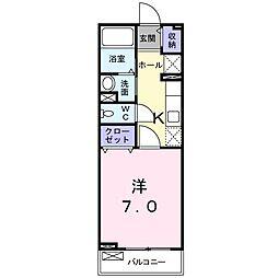 埼玉県和光市中央1丁目の賃貸アパートの間取り