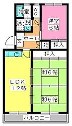 シャトー渡辺[3階]の間取り