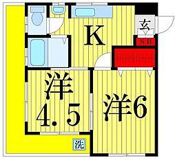 鶴見マンション[304号室]の間取り