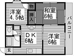 アドミナル3号棟[2階]の間取り