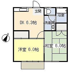 シーサイドハイツI[1階]の間取り