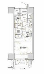 横浜市営地下鉄ブルーライン 阪東橋駅 徒歩3分の賃貸マンション 6階1Kの間取り