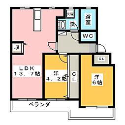 佐鳴台ハイツ[1階]の間取り
