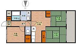 エスコート中崎[6階]の間取り