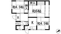 [一戸建] 兵庫県宝塚市鶴の荘 の賃貸【/】の間取り