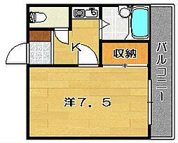 ホワイトアベニュー[305号室]の間取り