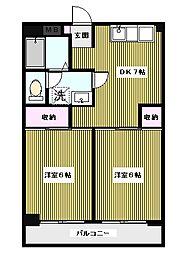 サンライフマンション[402号室]の間取り