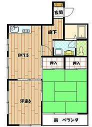 エスペランサ並木[1階]の間取り