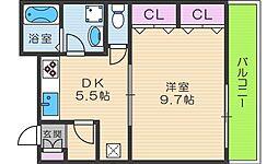 サンライトあべの5[1階]の間取り