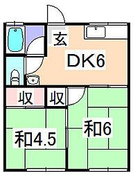 兵庫県揖保郡太子町東出の賃貸アパートの間取り