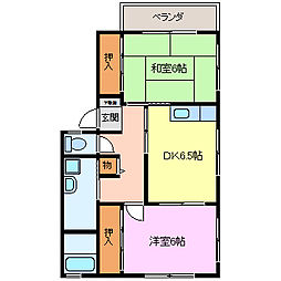 コンフォート高田[A102号室]の間取り