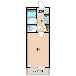 センターマンション[8階]の間取り