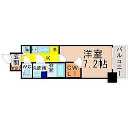 プレサンス名古屋グロウ[3階]の間取り
